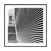 """Kunstdruck, Funtimes In Babylon, 20×20 """"- Stadtleben, Maximalist, Schwarz & Weiß, S …   – Products"""