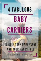Baby Carrier Tips for babywearing a newborn and beyond with various babywearing wraps and bab...