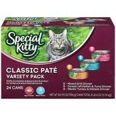 Cheap Special Kitty Classic Pate Variety Pack Wet Cat Food 5 5 Ounce Cans Pack Best Dog Car Seat Reviews