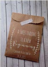 Wedding party Favour Hand bags Laurel Rustic Candy Buffet by DetailsonDemand weddingideas