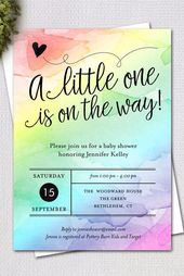 Bright and Cheery Rainbow Baby Shower Ideas