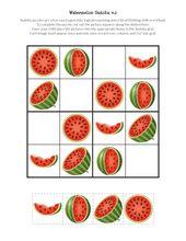 Watermelon Sudoku Puzzles {free printables}