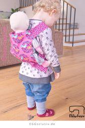 Baby Carrier Puppentrage und Puppenbettwäsche als Weihnachtsgeschenke nähen. Schnittmuster ...