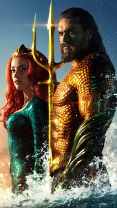 Obtain Jason Momoa & Amber Heard In Aquaman Free Pure 4K Extremely HD Cellular Wallpaper