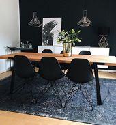 2 Farben für ein luxuriöses Esszimmer – Insplosion Blog #esszimmer #farben #insplosi   – Interiors