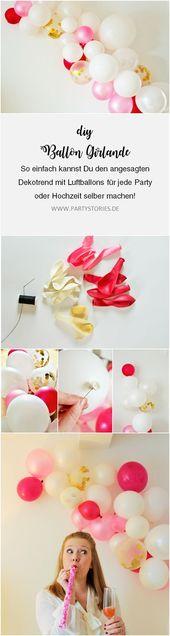 Anleitung: moderne Luftballon Girlande einfach selber machen