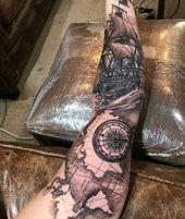 Armbedeckungstattoo, Armtätowierung, Armbedeckung Arm Covering Tattoo, Arm Tatto …