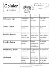 opinion writing prompts rubric   Do you love writing Fanfiction or want to learn…