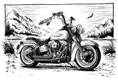 Harley Davidson / Biker Wahl – meine persönliche Zeichnung und 3D – # 3D #Biker…