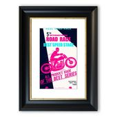 East Urban Home Framed Poster Motorbike Real Road Race | Wayfair.de