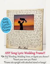 Personalized Picture Frame Personalized Photo Frame Custom Photo Frame Wedding Gifts --PF-GRY-GILLIS Custom Picture Frame