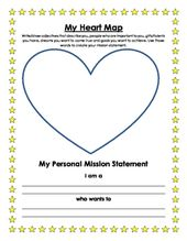 A Worksheet For Student To Create Personal Mission Statement Will Heart Map Example Of 7 Habits