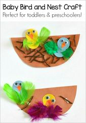 Spring Crafts for Youngsters: Nest and Child Chicken Craft – Buggy and Buddy