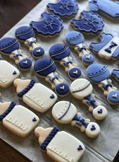 Baby shower food for boy cookies 69+ Ideas