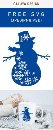 Free Snow Flake Snowman SVG, PNG, EPS & DXF by