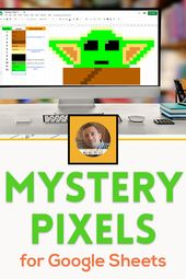 Mystery Pixel Research Activities for Google Sheets and Google Classroom