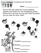 Kindergarten Thanksgiving Math Worksheet Printable Thanksgiving Math Worksheets Thanksgiving Math Thanksgiving Math Worksheets Free