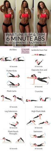 😱 Mit diesem 6-minütigen Bauchmuskeltraining werden Sie schlank und schlank….