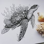 Animal Ink Drawings.