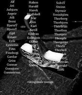 Viking Male Names Viking Baby Names Viking Names Boy Names