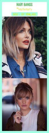 Hair bangs #hairbeauty #seo #pinterestniches #women'sstyle. hair color, hair sty…