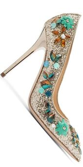 Brilliant Luxury by Emmy DE ♦Ballin 'Iris Blue' Pumps