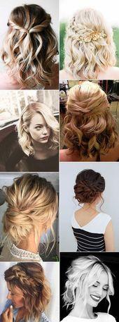 12 nouvelles coiffures de mariage pour cheveux mi-longs   – Frisuren Mittellanges Haar
