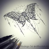 """Rodrigo Sá on Instagram: """"Borboleta. (16cm x14cm) Disponível para tatuar! Informações somente através do email: ofilhodatuta@gmail.com ou pelo whatsapp 11 970397202…"""""""