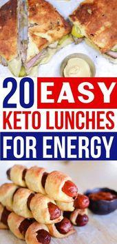 Verrücktes EINFACHES Keto-Mittagessen für meine ketogene Diät! Diese Keto-Lunch-Rezepte sind die …