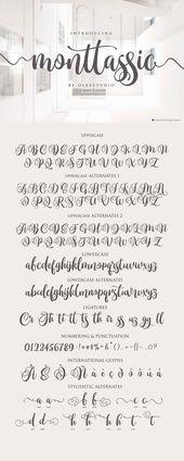 Monttassic – Luxury Script Font