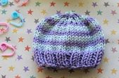Baby cap quickly knitted