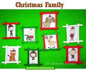 ESL Christmas and family. And students can make portraits like mine with craft s… – ESL Family