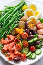 Geräucherter Lachs Nicoise Salat