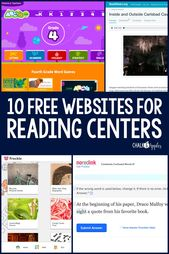 FREE Websites for Reading Centers in Upper Elementary – Chalk & Apples