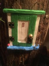 Hinged 5 Fairy door for the home or garden Comfort | Etsy   – Fairy