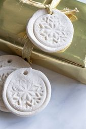 How to Make Stamped Salt Dough Gift Tags