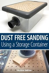 Mud Free Sanding Utilizing a Storage Container