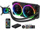 Rosewill Rgb 240mm Cpu Liquid Cooler All In One Closed Loop Pc Water Cooling Q Water Cooling Water Cooler Fan All In One