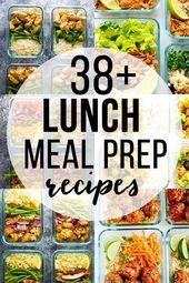 Diese 38 einfachen Ideen für die Zubereitung von Mittagsmahlzeiten beweisen, dass …   – healthy meals ideas
