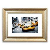 East Urban Home Gerahmtes Poster Straße mit gelben Taxis | Wayfair.de