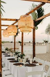 Mariage boho tropical raffiné sur la plage de Palm Beach Marriott #beachwedding