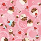 Fat Quarters ONLY – Cupcakes & Cherries on Pink from Robert Kaufman