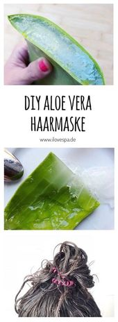 DIY Aloe Vera Hair Mask – Make your own hair mask from fresh aloe vera
