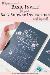 Baby Shower Songs Basic Invite baby shower invitations