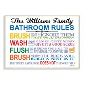 Personalized Bathroom Rules Rainbow By Janet White Textual Art Plaque Bathroom Rules Personalized Bathroom Wall Plaques