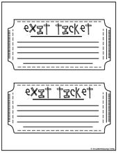 What Did You Learn Today Exit Ticket  Teaching High School