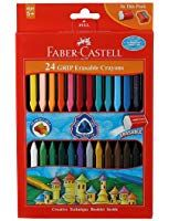 Faber Castell Grip Erasable Crayon Set Pack Of 24 Assorted