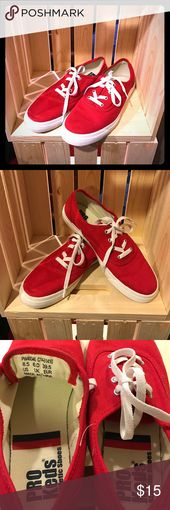 black and red pro keds
