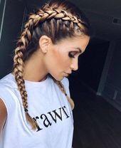 25 Atemberaubende Zöpfe Frisur Ideen für diesen Sommer  #atemberaubende #diese… – Beliebt Frisuren