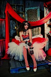 Tulle and safety   – Circus Theme Photo Shoot